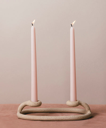 Duo Candlestick, Speckled - SIN  |  Home goods & ceramics
