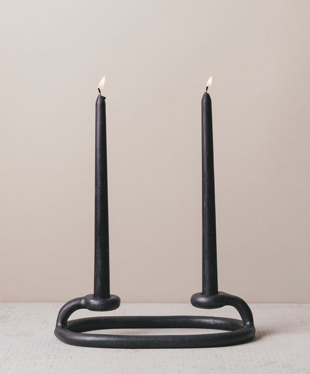 Duo Candlestick, Black - SIN  |  Home goods & ceramics