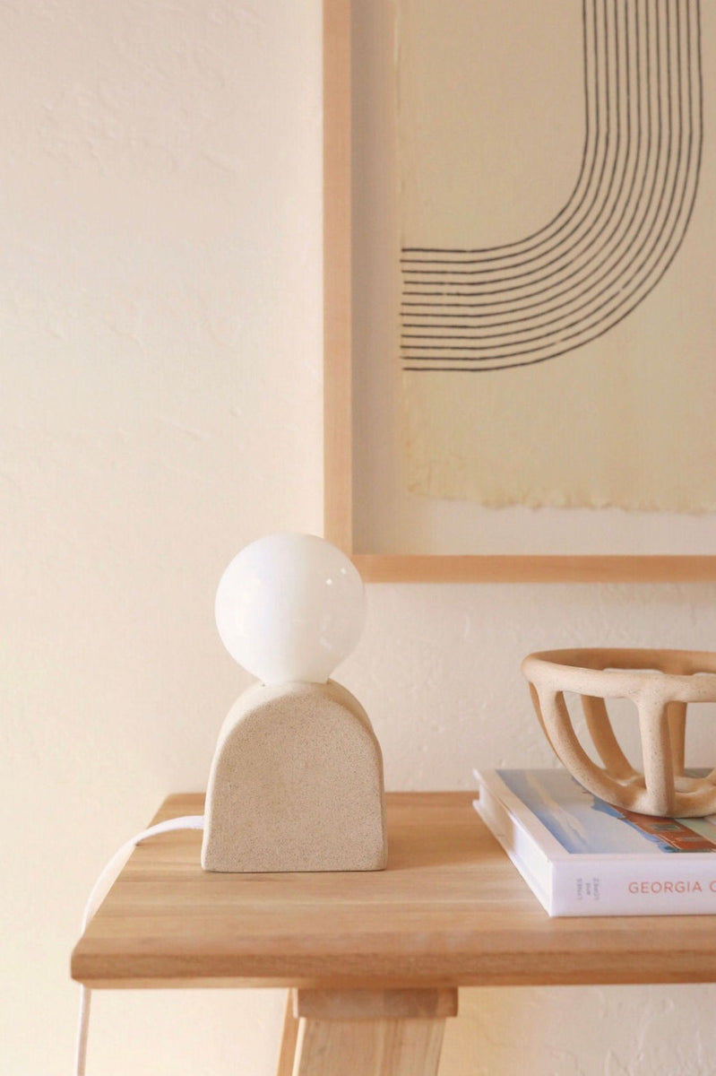Mima Table Lamp, Sand