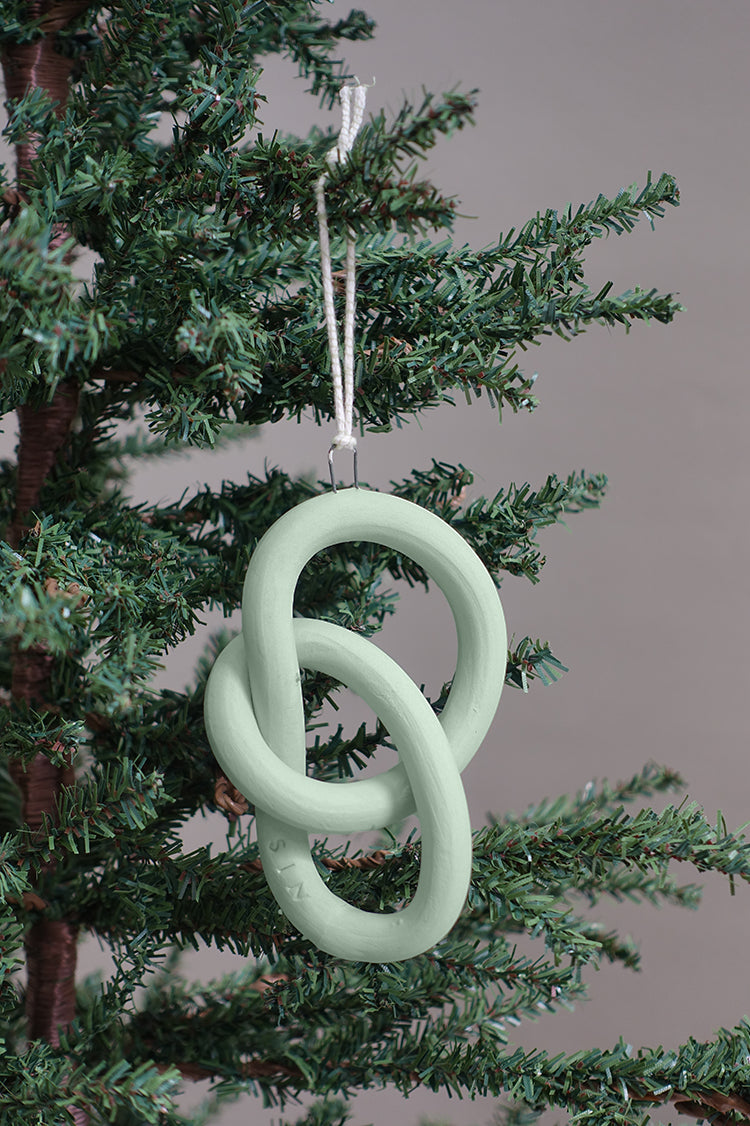 Wey Ornaments (Set of 3), Fiberglass Green