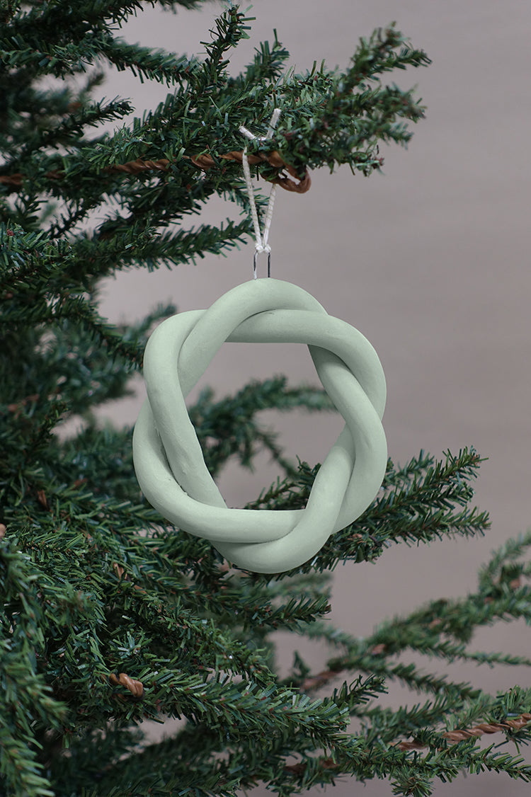 Marin Ornaments (Set of 4), Fiberglass Green