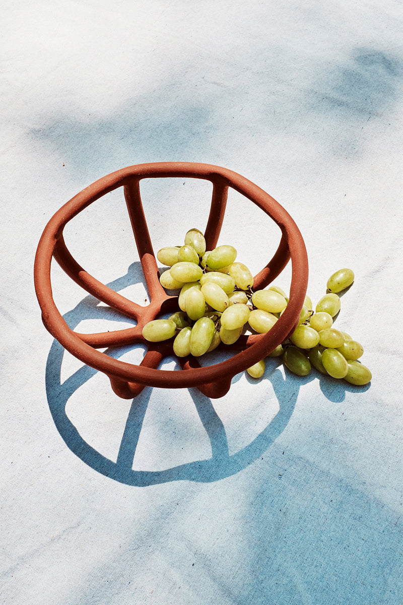 Prong Fruit Bowl, Brick - SIN  |  Home goods & ceramics