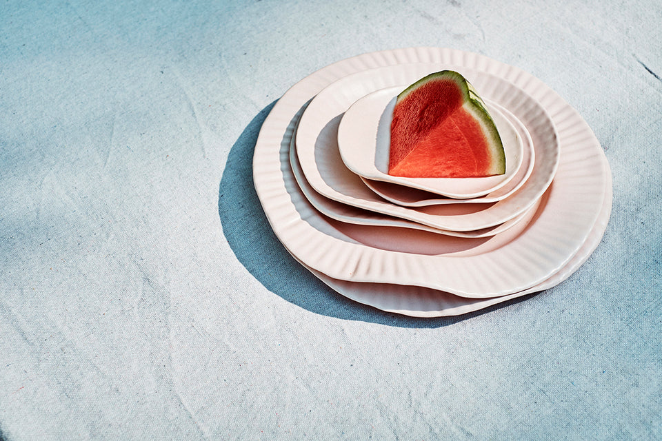 Porcelain Paper Plate, Blush - SIN  |  Home goods & ceramics