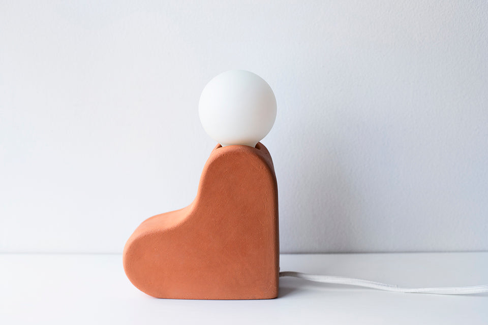 Joshua Table Lamp, Terracotta