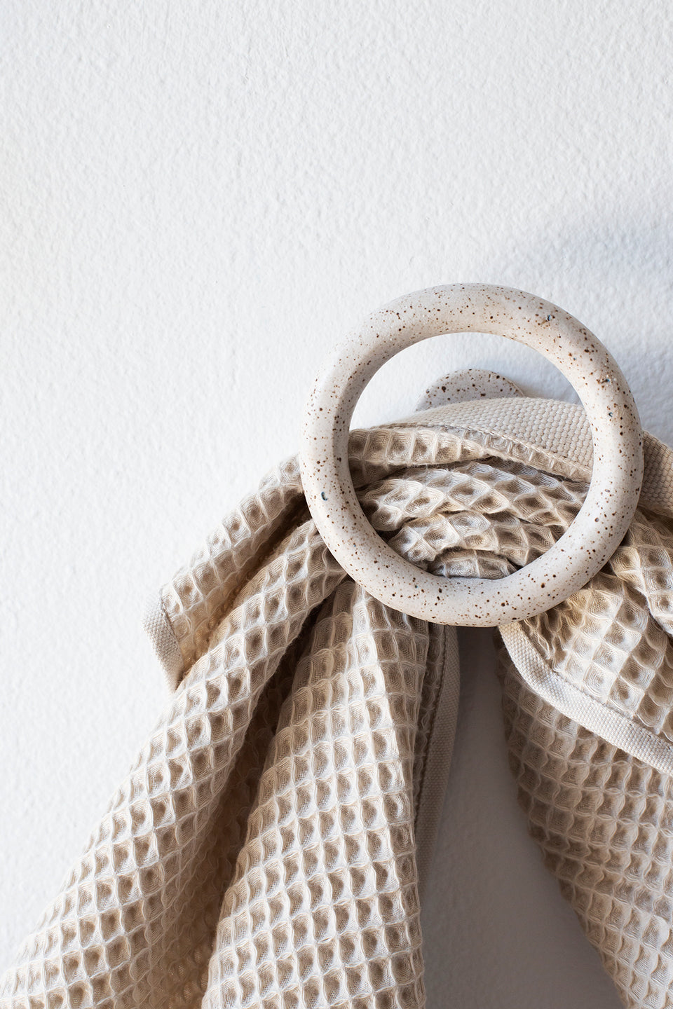 Wall Hook, Speckled White - SIN  |  Home goods & ceramics