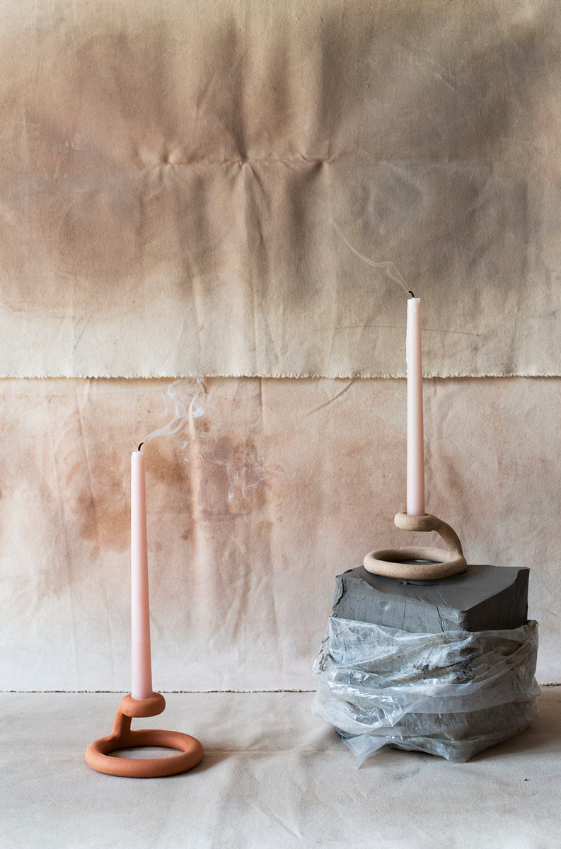 Uni Candlestick, Speckled - SIN  |  Home goods & ceramics