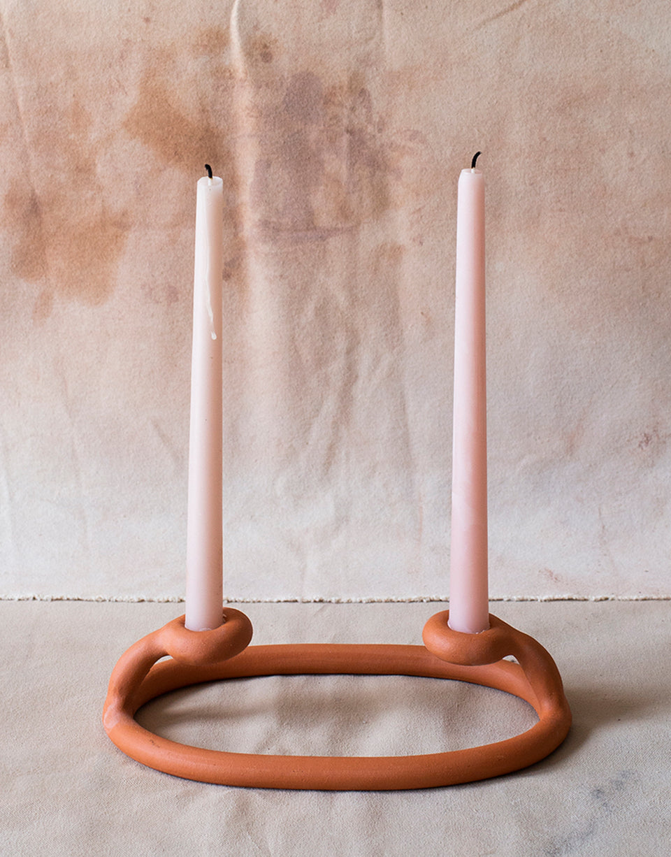 Duo Candlestick, Terracotta - SIN  |  Home goods & ceramics