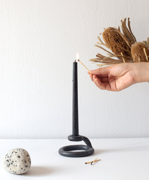 Uni Candlestick, Black - SIN  |  Home goods & ceramics
