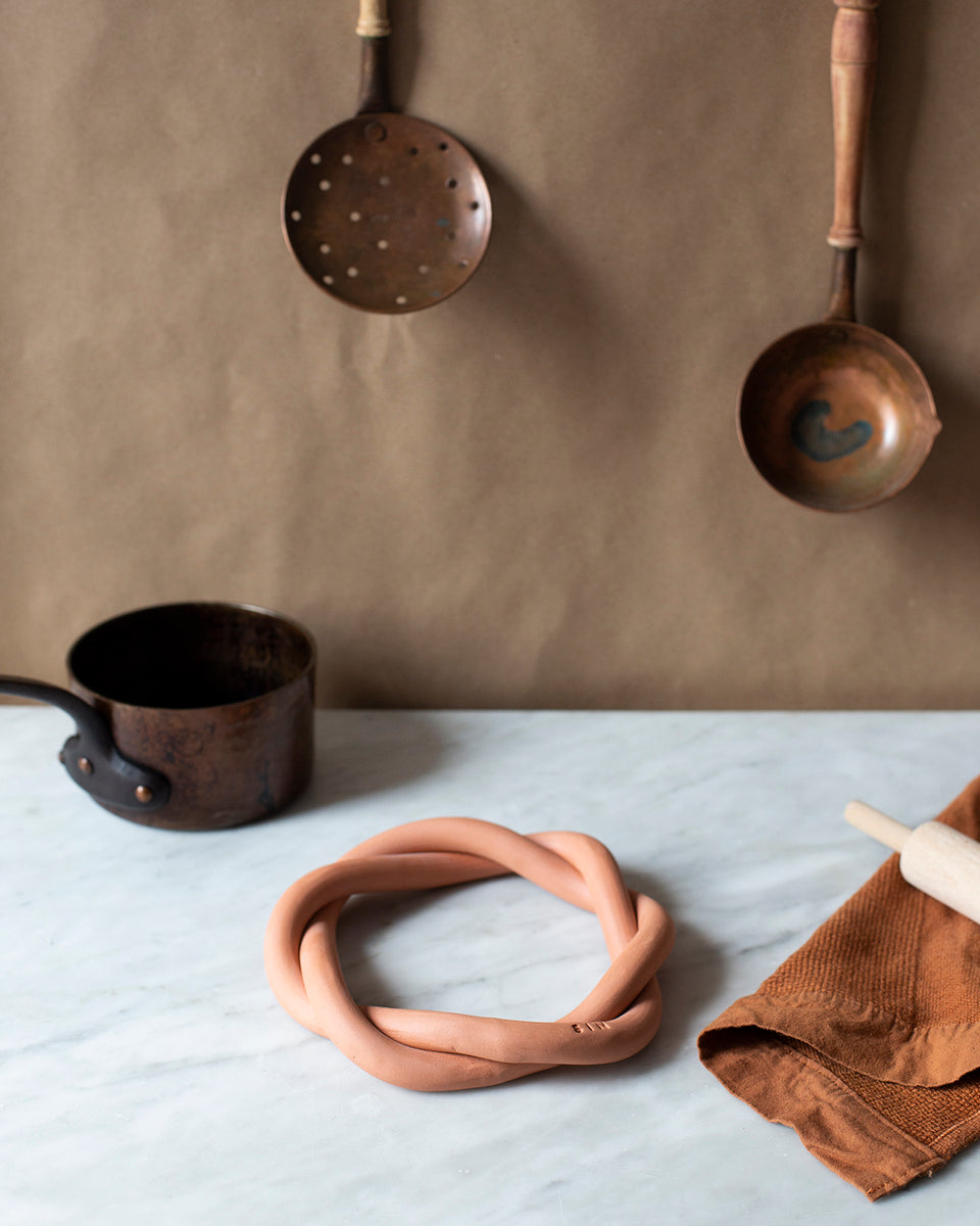 Twist Trivet, Terracotta - SIN  |  Home goods & ceramics