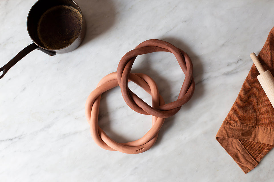 Twist Trivet, Brick - SIN  |  Home goods & ceramics