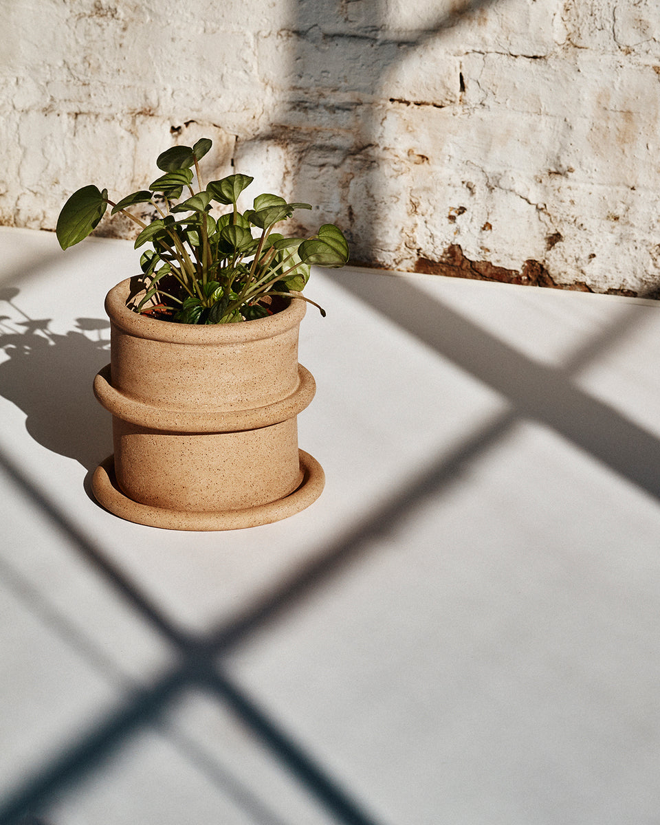 Chunky Coil Planter, Speckled
