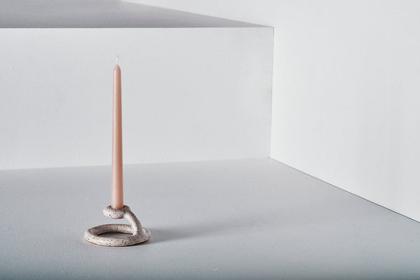 Uni Candlestick, Speckled White