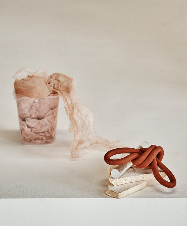 Double Loop Knot, Brick - SIN  |  Home goods & ceramics