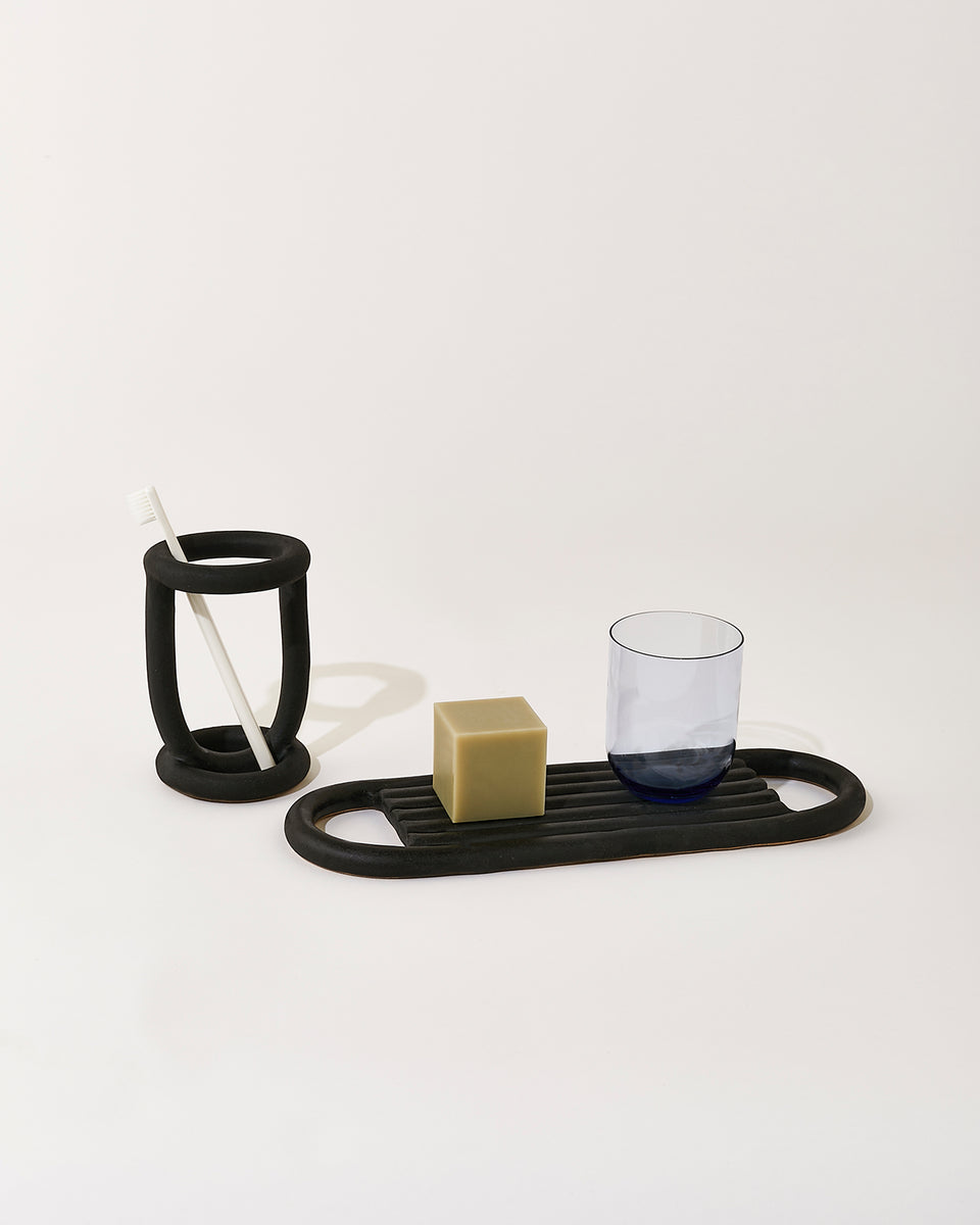 Drift Bath Tray, Black