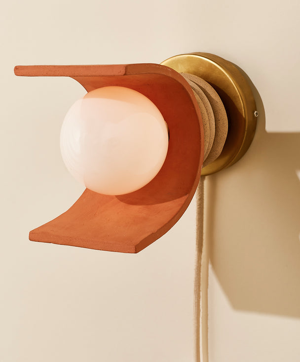 Lunar Sconce, Speckled / Terracotta