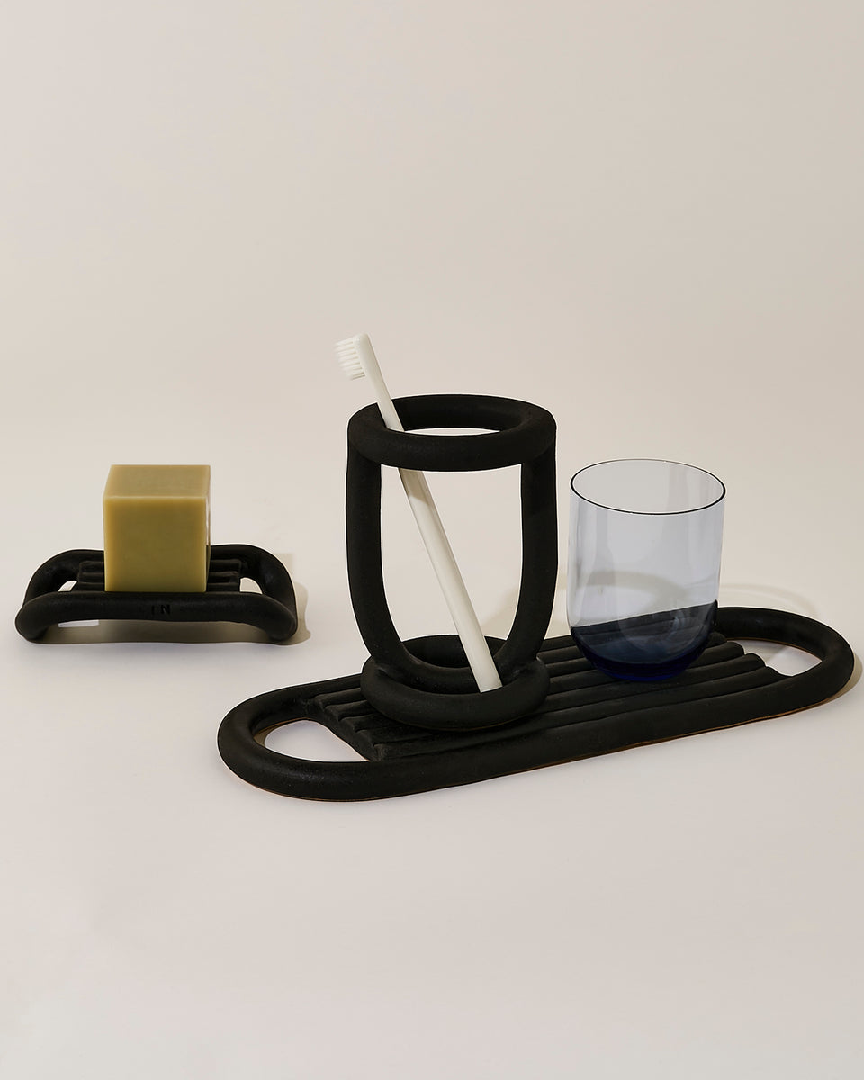 Buoy Toothbrush Holder, Black