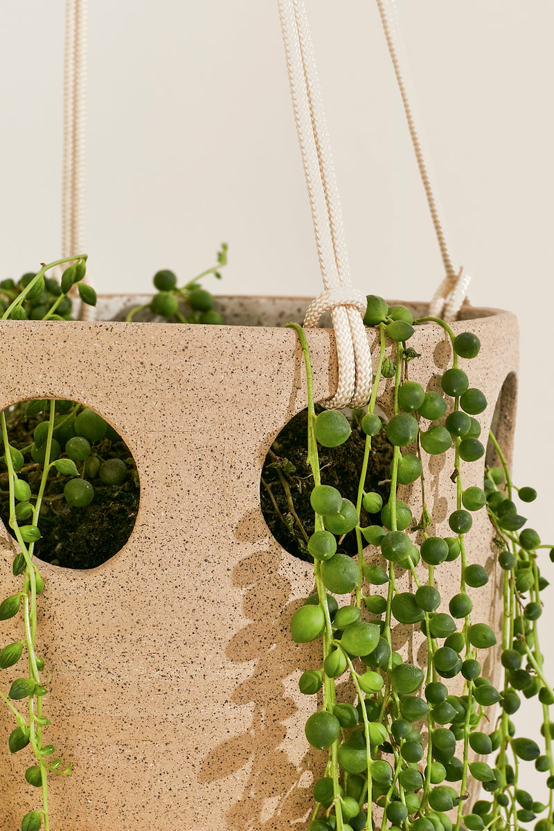 Cenote Hanging Planter, Speckled