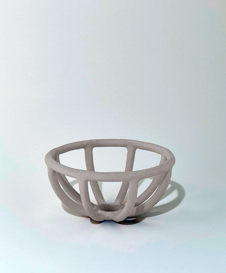 Prong Fruit Bowl, Grey-Brown
