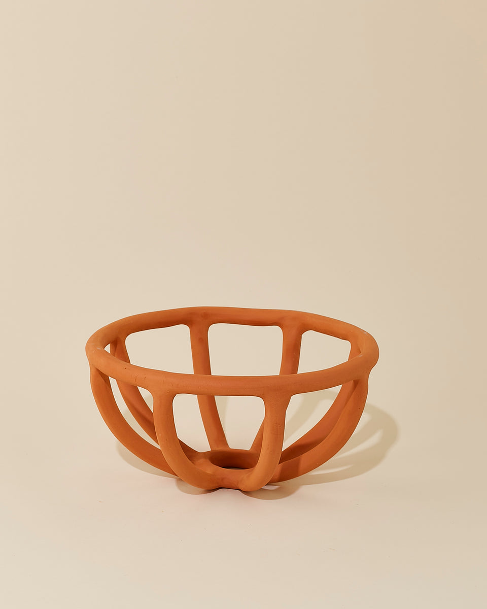 Prong Fruit Bowl, Terracotta