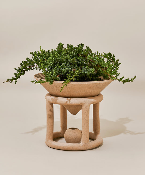 Reservoir Floor Planter, Speckled