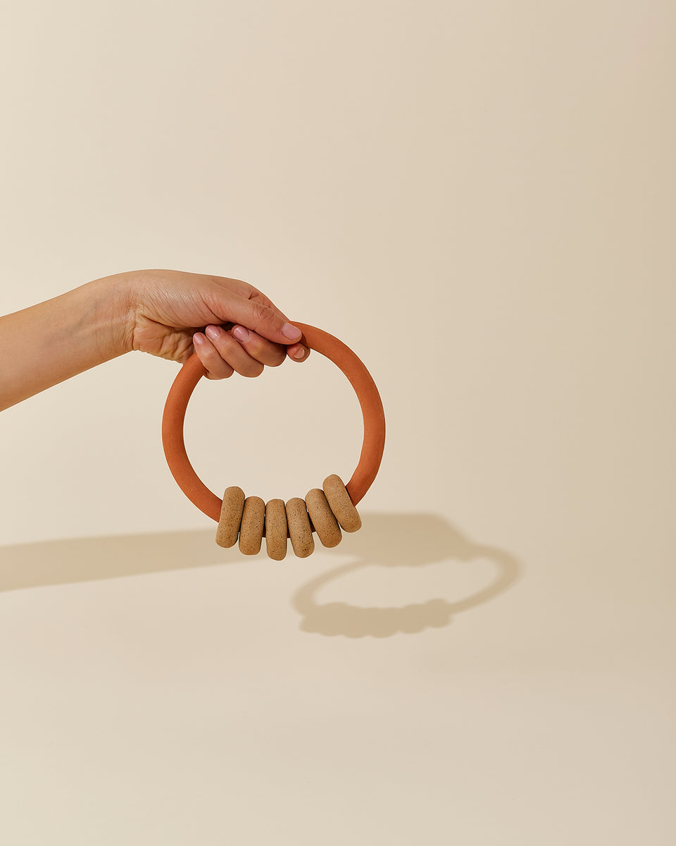 Rung Trivet, Speckled / Terracotta