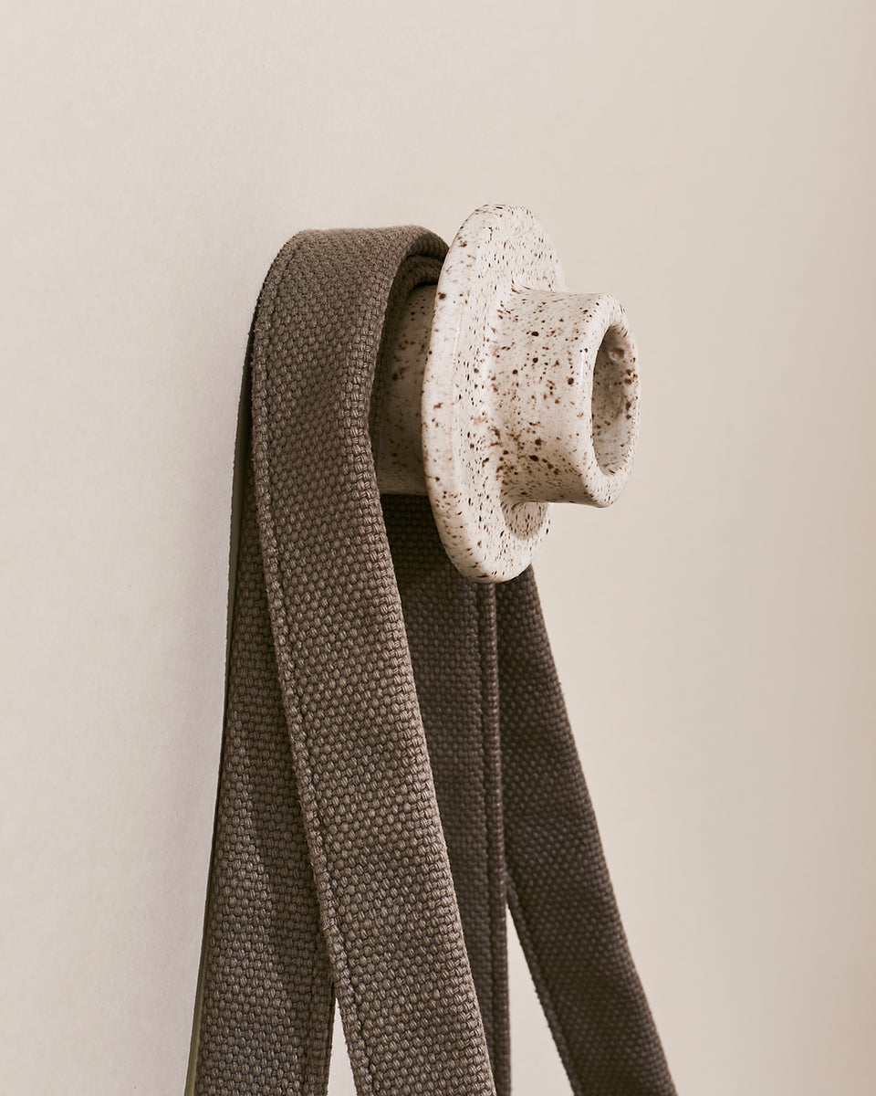 Tunnel Wall Hook, Speckled White