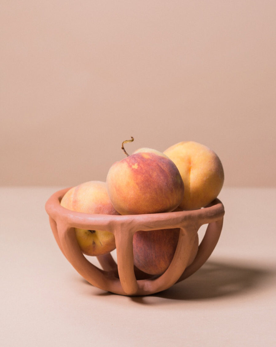 Prong Fruit Bowl, Terracotta - SIN  |  Home goods & ceramics