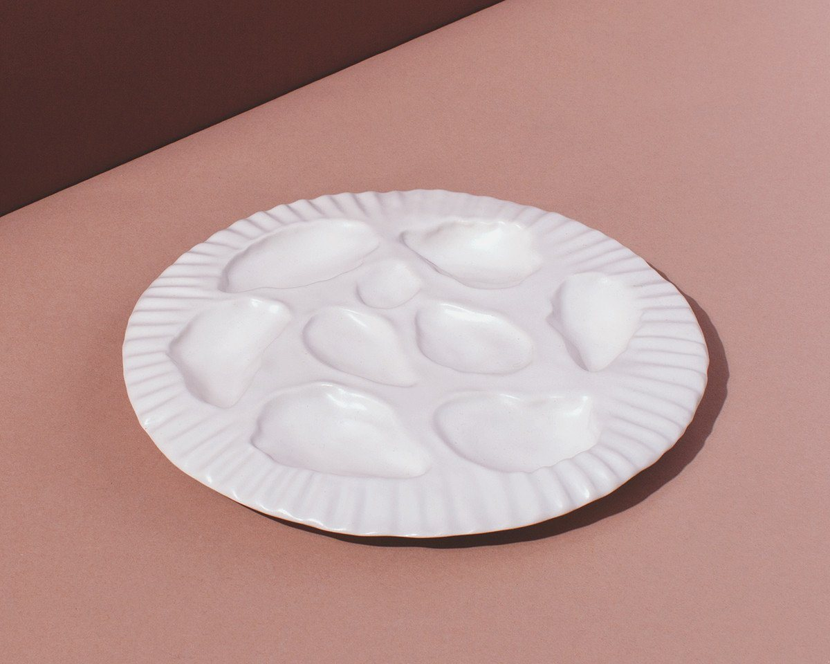 Ceramics - Oyster Plate & SIN Ceramics Porcelain Oyster Plate | SIN | Home goods