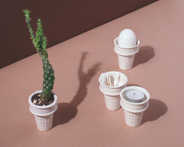 Ceramics - Porcelain Ice Cream Cone