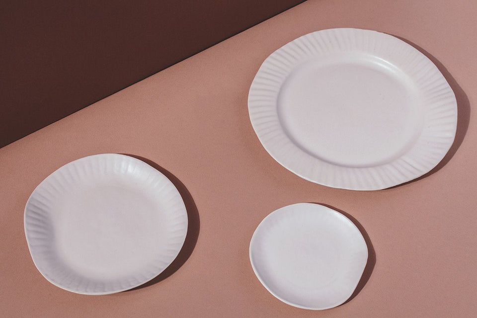Porcelain Paper Plate, White - SIN  |  Home goods & ceramics