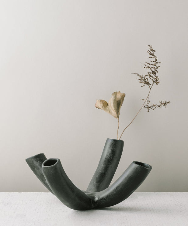 Venule 4-Way Vessel, Black - SIN  |  Home goods & ceramics