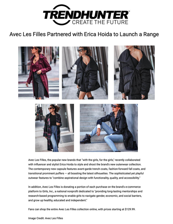 Avec Les Filles Partnered with Erica Hoida to Launch a Range