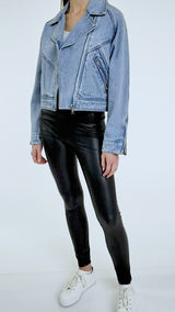 Cropped Denim Biker
