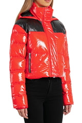 Cropped Patent Puffer
