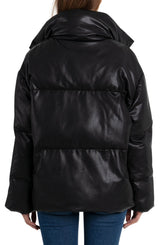Oversized Vegan Leather Puffer Outerwear Avec Les Filles