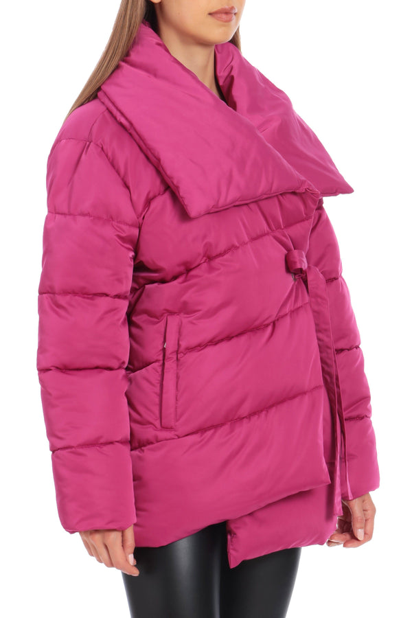 Water-Resistant Wrap Puffer