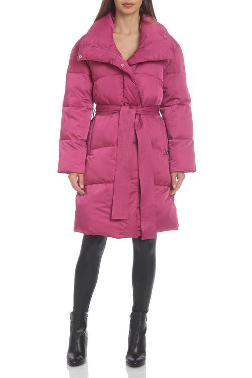 Water-Resistant Belted Puffer