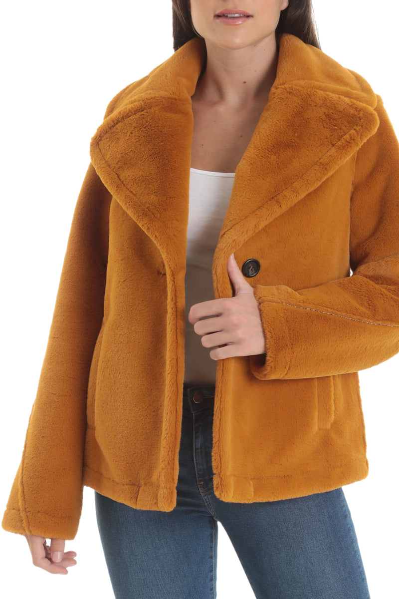 Bonded Faux Fur Jacket