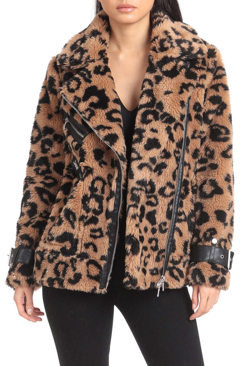 Oversized Teddy Faux Fur Biker