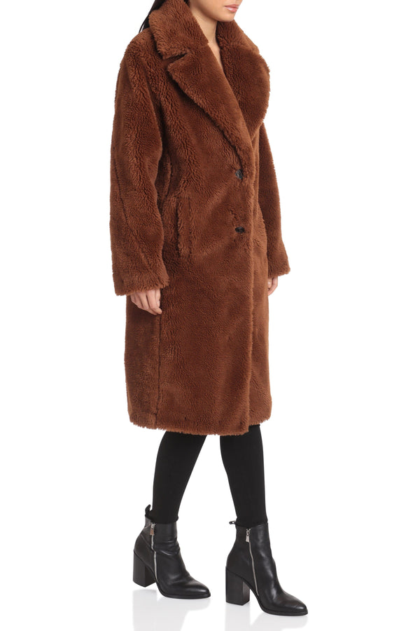 Oversized Teddy Faux Fur Coat