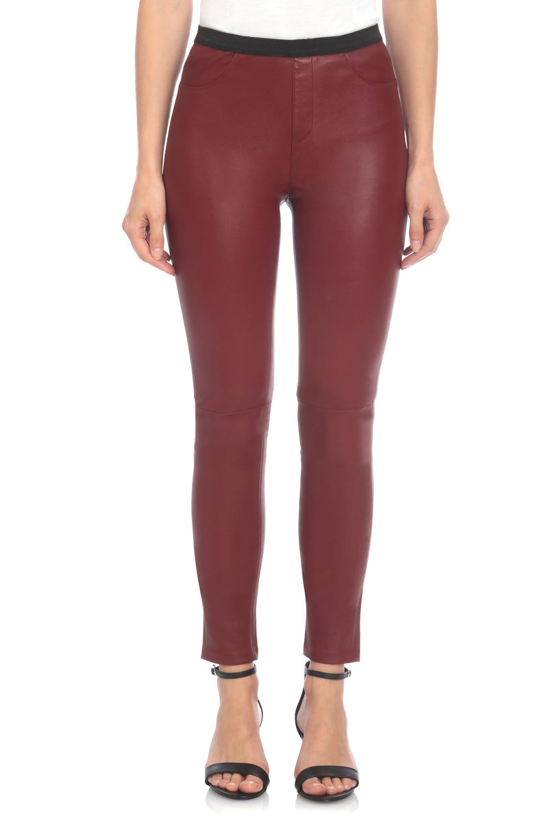 Stretch Lamb Leather Legging Bottoms Bagatelle XS Paprika