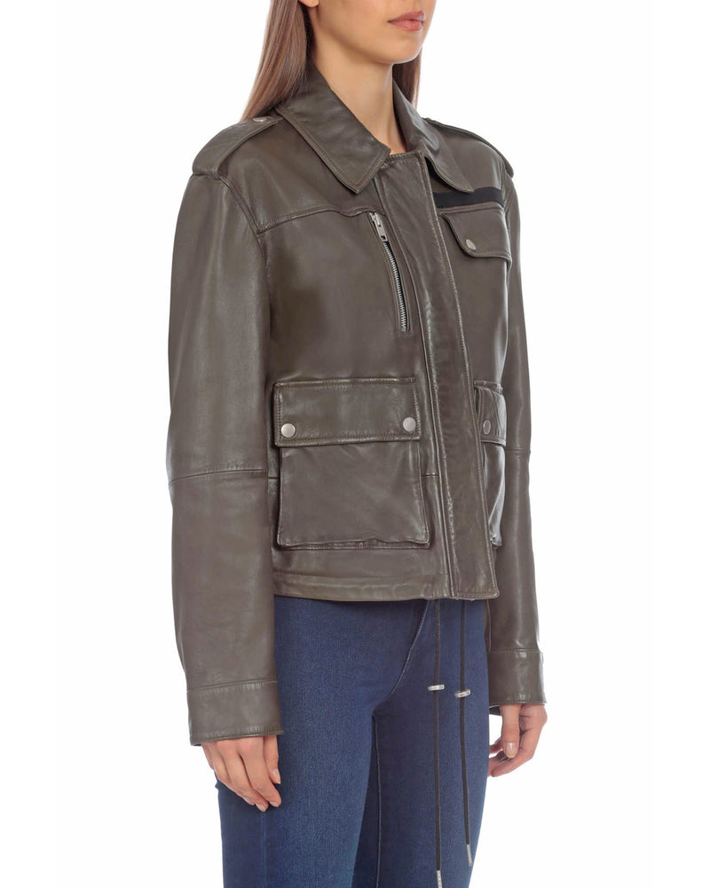 Lamb Leather Army Jacket Outerwear Bagatelle