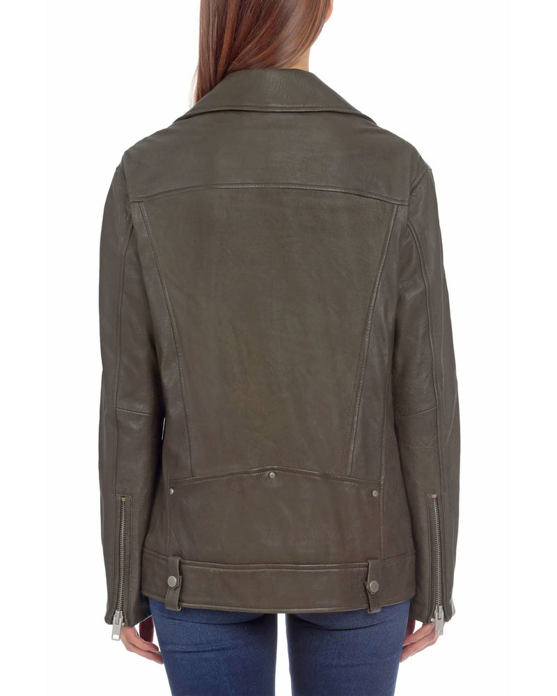 Oversized Leather Biker Outerwear Bagatelle