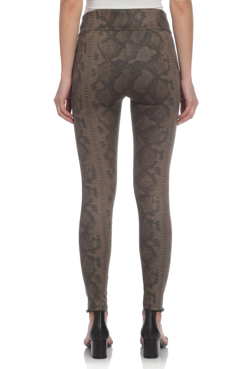 Faux Suede Python Legging Bottoms Bagatelle