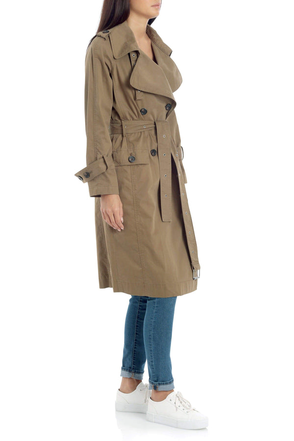 Cotton Double-Breasted Trench
