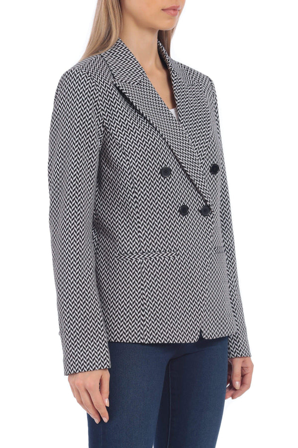 Ponte Double-Breasted Blazer Outerwear Bagatelle