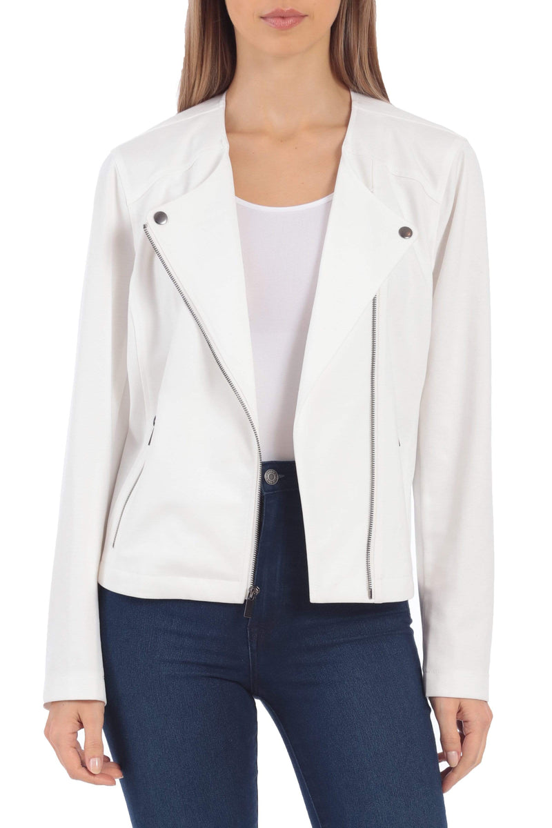 Ponte Biker Jacket Outerwear Bagatelle S Cream