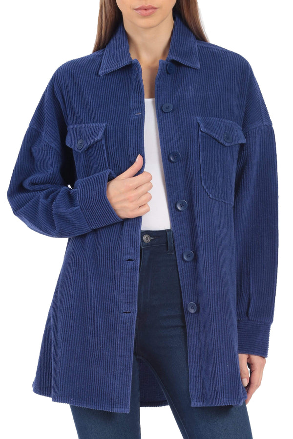 Oversized Corduroy Shirt Jacket