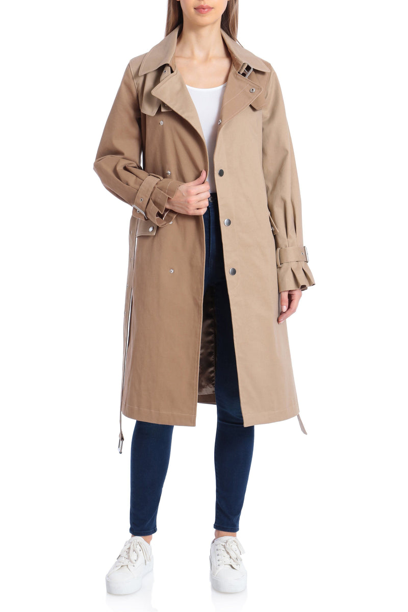 Two-Tone Cotton Trench