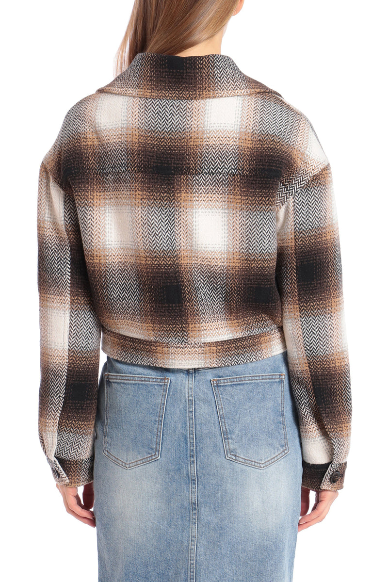 Western Plaid Cropped Jacket